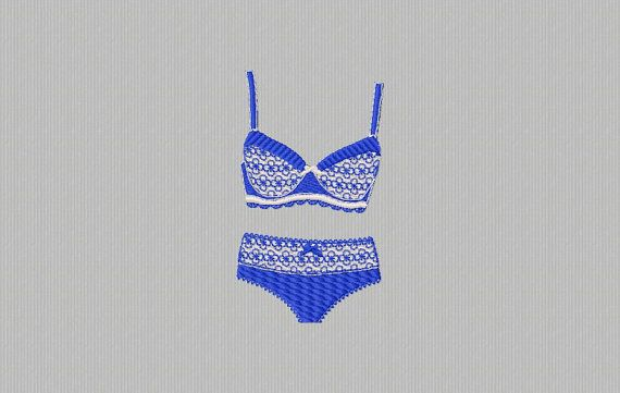 4 x 4 women's lingerie for immediate download by BrodPic on Etsy
