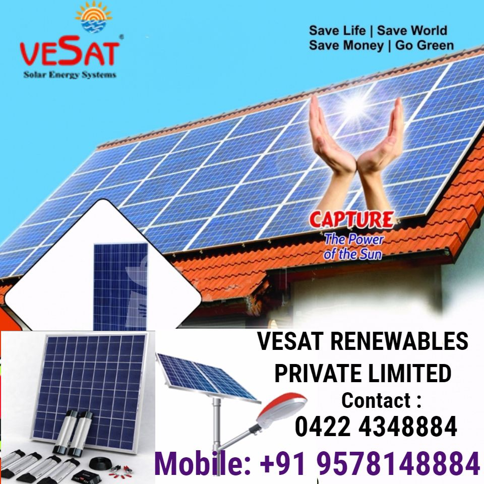 Vesat Renewables Private Limited In 2020 Solar Solar Companies Thermal Energy