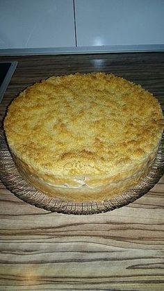 Apfelkuchen mit Vanillecreme und Streuseln #creamfrosting