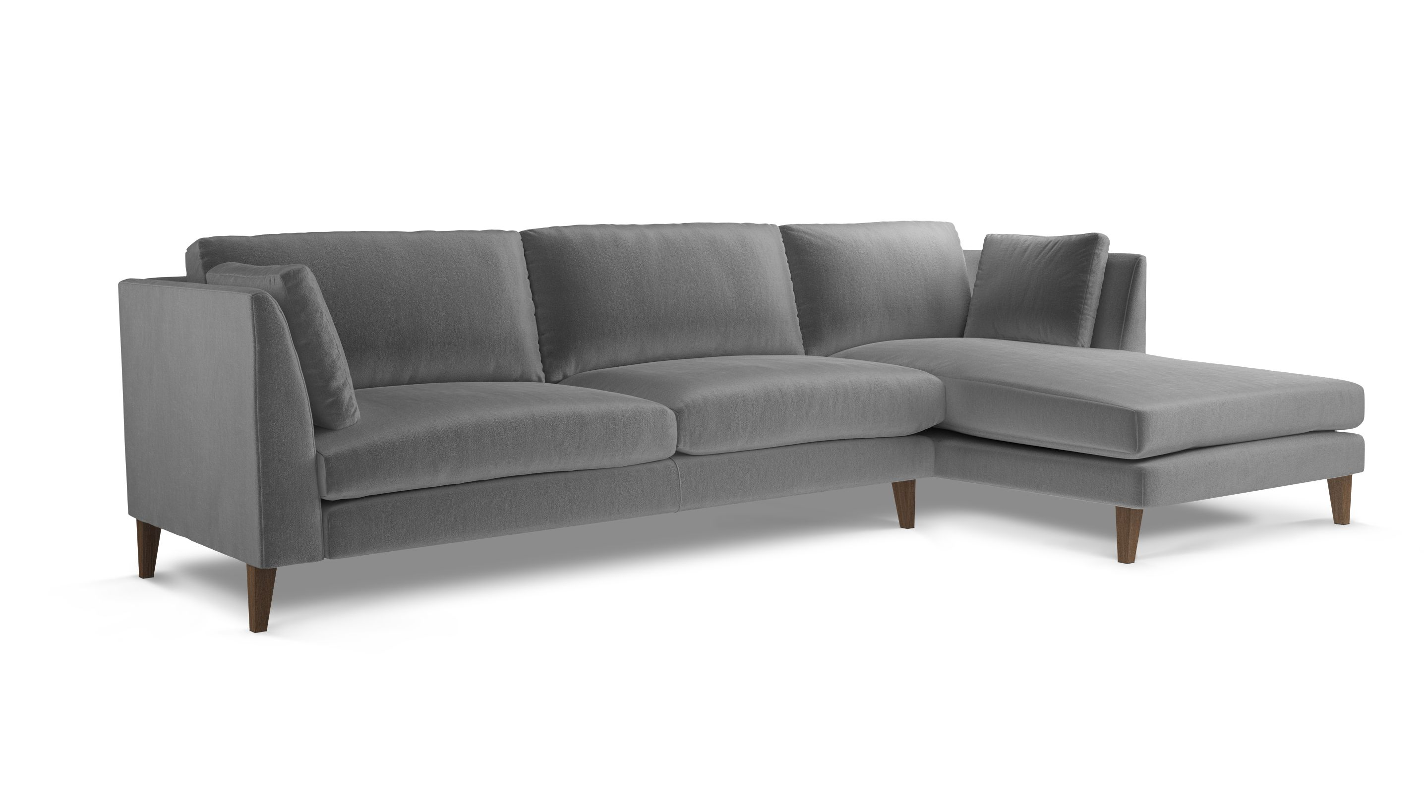Meet Philo Chaise Rhf This Large L Shaped Sofa With Extra Leg Space