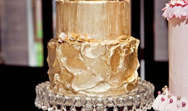 How to make rose gold buttercream frosting
