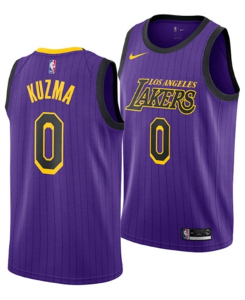 d5c21bbe0f5 Nike Men s Kyle Kuzma Los Angeles Lakers City Swingman Jersey 2018 - Purple  M