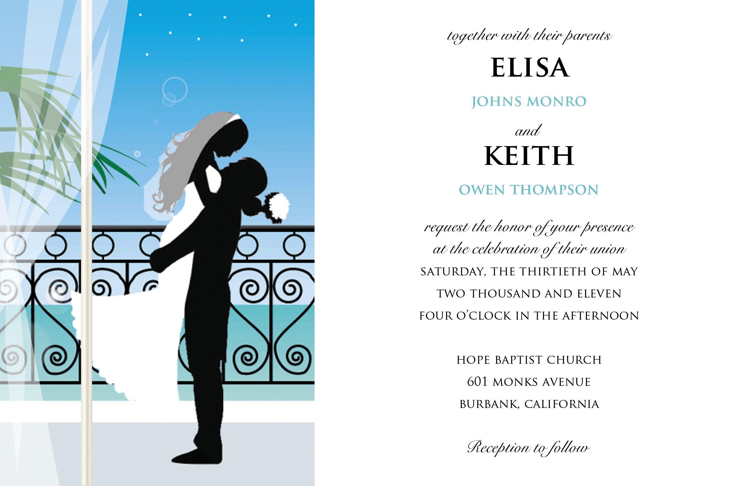 Wedding Invitation Cards Sample Wedding Invitation Card Sample ...