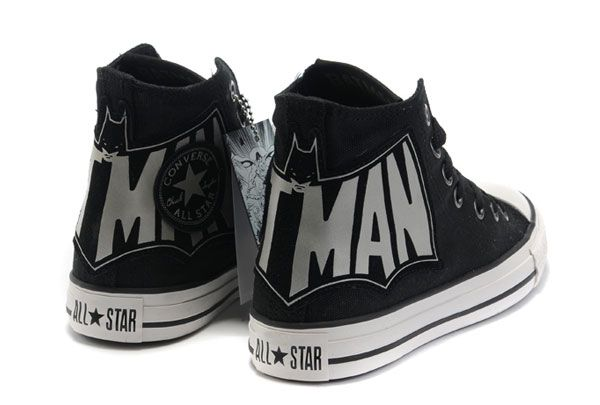 1cea58c0c9a1 Batman logo Converse high tops