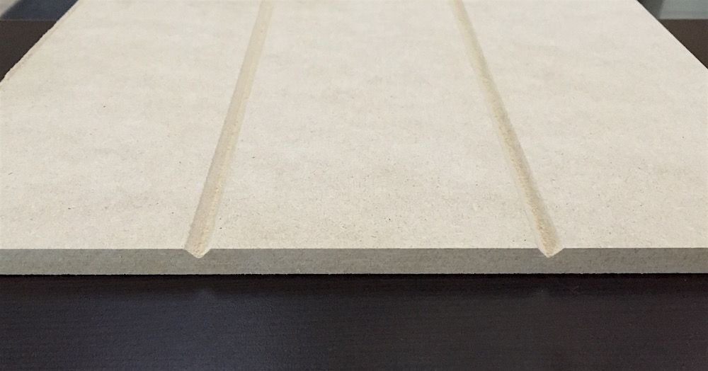 V Grooved Sheet In Raw Mdf Wall