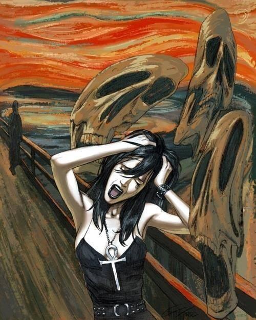Greg Horn: Death meets Munch