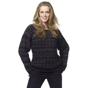 caron crochet patterns | Ladies' Pullovers and Sweaters Crochet ...
