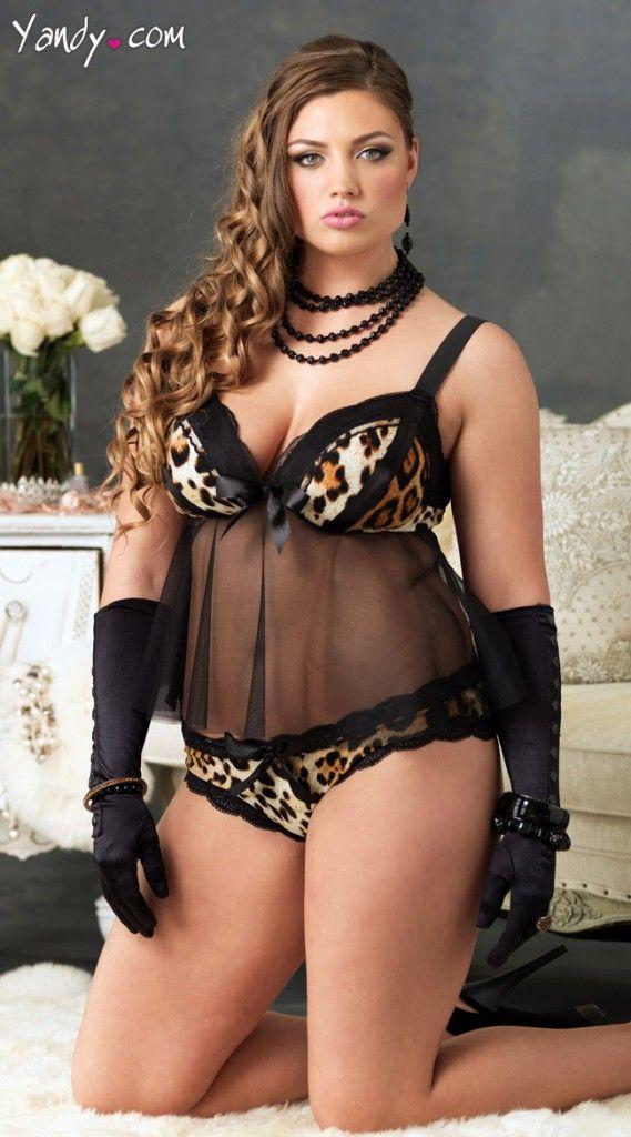 99dccc347afe6 Leg Avenue Leopard   Mesh Babydoll Set. Was  29.95. Now  26.95. Women  Lingerie