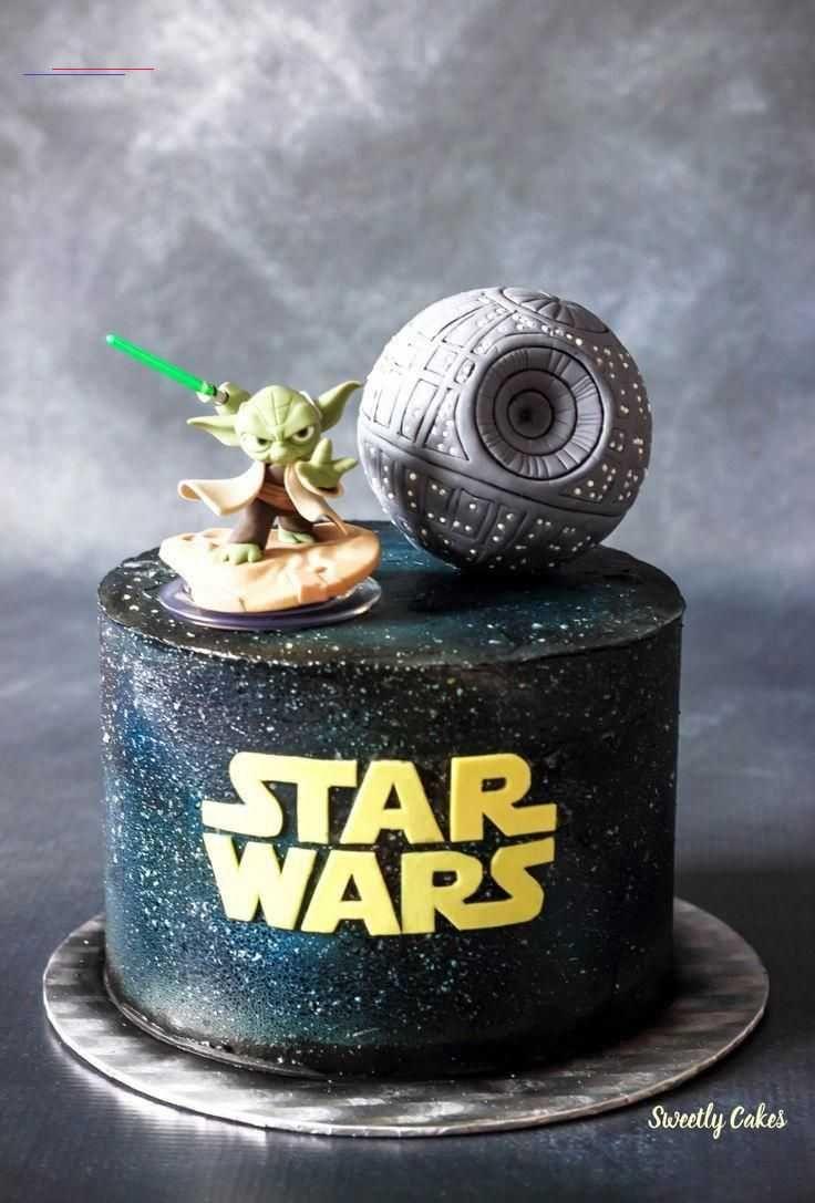 Photo of Gâteau Star Wars  Effet Galaxie à laérographe  – Baby Star Wars – Ideas of Ba…
