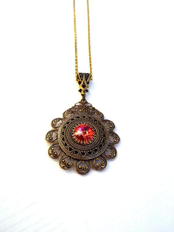 Gothic Swarovski Crystal Necklace Victorian Gothic Jewelry by  ApplebiteJewelry 4e02e418b84