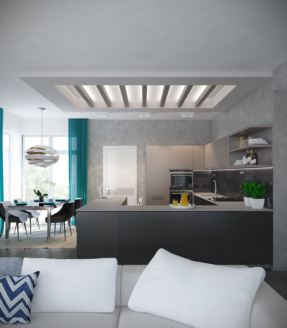 a pair of modern homes with distinctively bright color on best colors for home interior id=13197