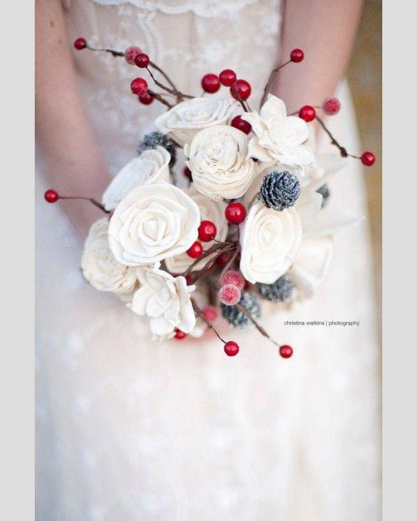 Resultado de imagem para buquê de noiva vermelho e branco para casamento com tema natalino