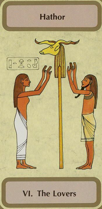 VI. The Lovers (Hathor) - Tarot of Transition by Unknown