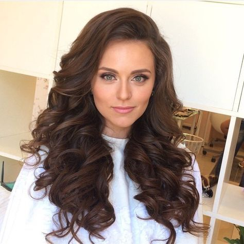 Big hair, long hair, hair down wedding hairstyles, curls ...