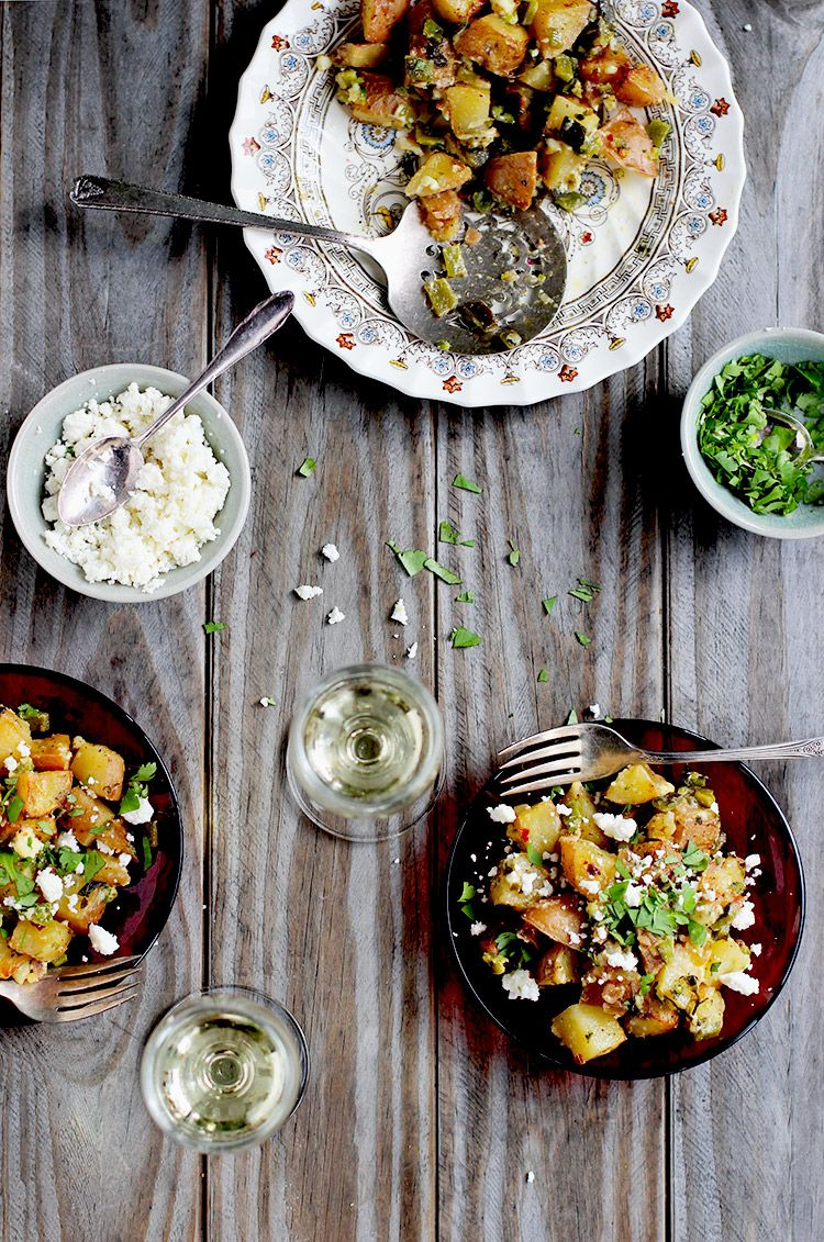 Mexican Style Lime Poblano Roasted Potatoes