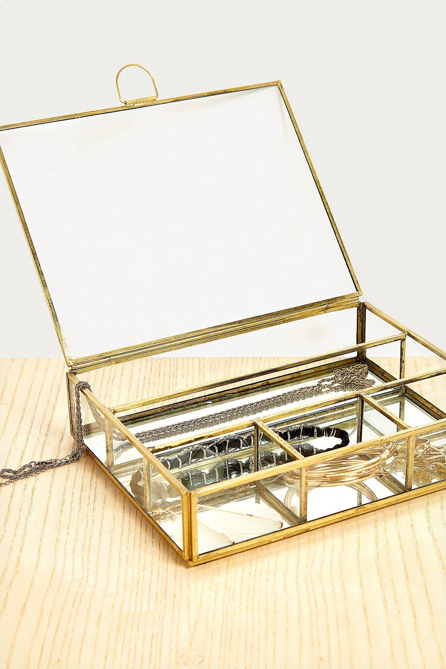 Large Divided Jewellery Box | Grande boîte à bijoux, Boite a bijoux et Rangement bijoux