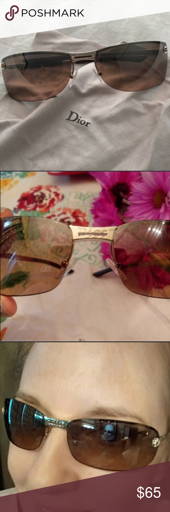 37f66c2d7d9f0 Dior VGUC ADIORABLE 3YGG4 Bronze Gold Sunglasses These beautiful AUTHENTIC Christian  Dior ADIORABLE 3YGG4 sunglasses