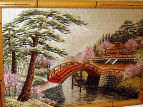 Vintage Japanese Silk Embroidered With Amazing Detail