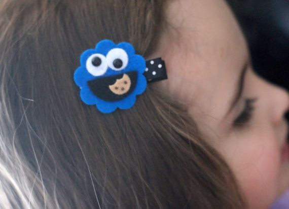 Cookie Monster Hair Clip by CravingCuteness on Etsy, $3.25