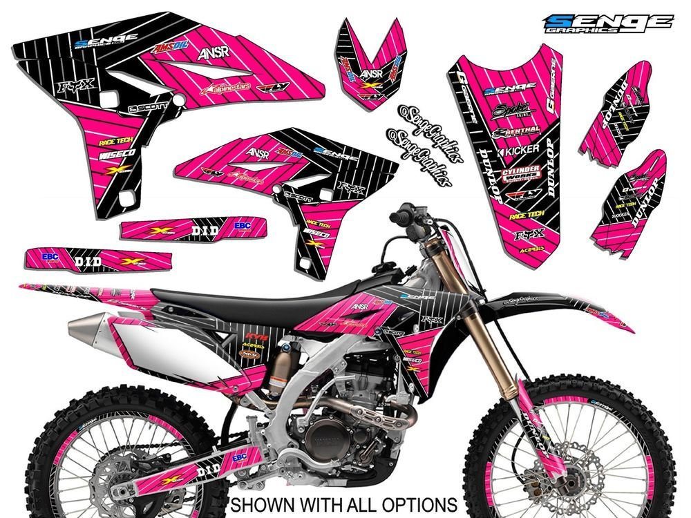 Pw 80 1990 2015 graphics kit yamaha pw80 09 08 07 deco decals stickers moto