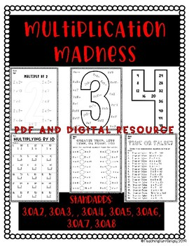 Multiplication Madness PDF and Google Drive Resource