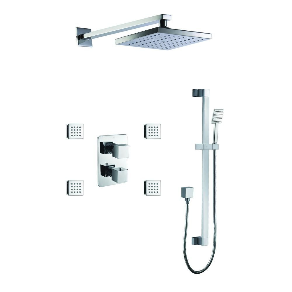Alfi Brand 1 Spray Dual Showerhead And Handheld Showerhead With