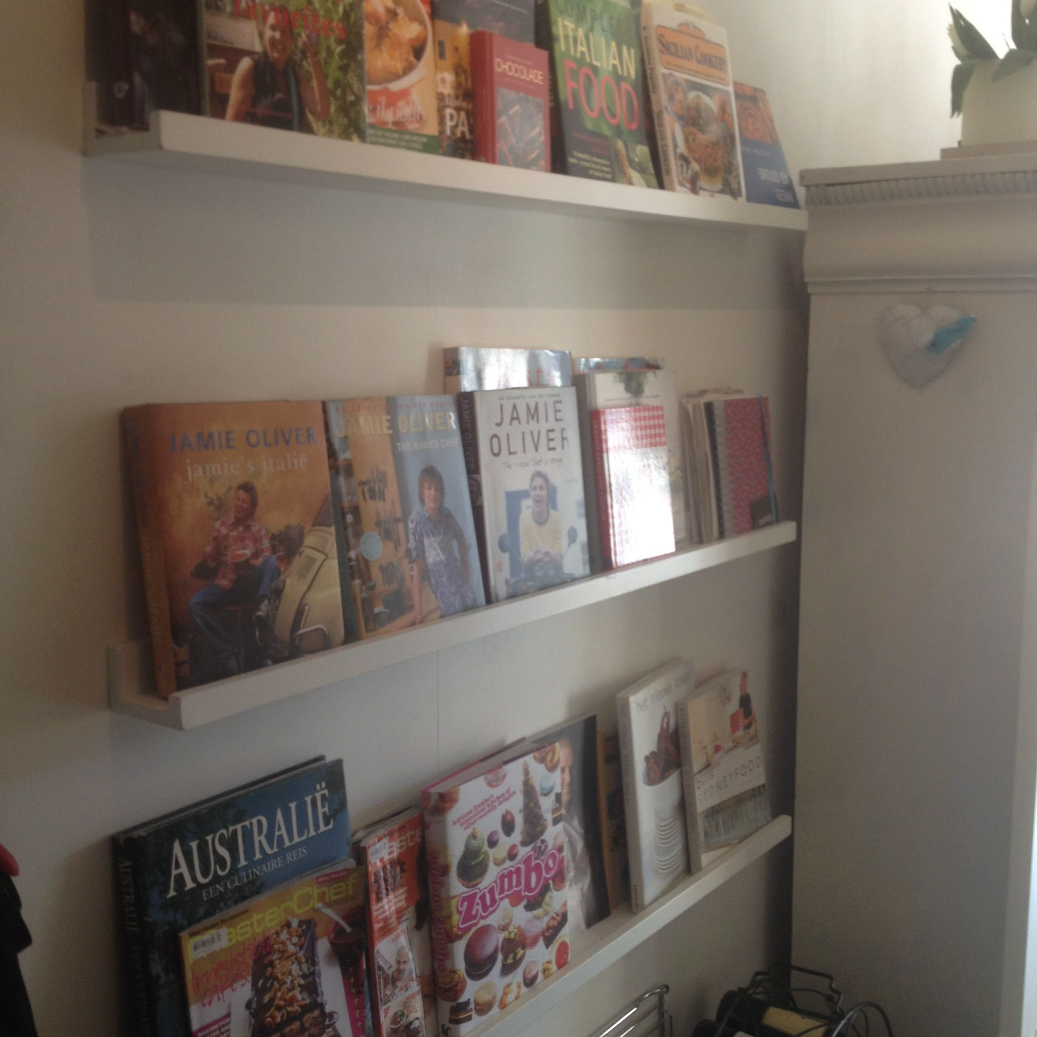Ikea Photo Shelves For Cook Books In The Kitchen Küche