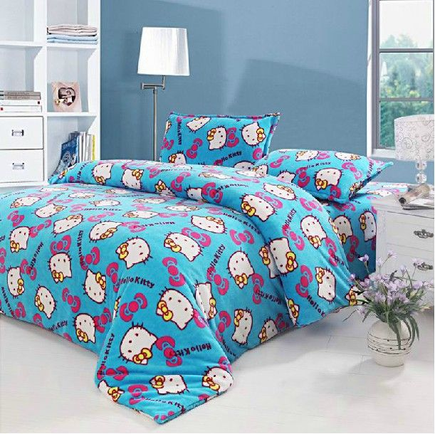 Bedroom Ideas Hello Kitty Soft Bedroom Colors Childrens Turquoise Bedroom Accessories Bedroom Decorating Ideas Gray And Purple: Hello Kitty Dorm Room Bedding