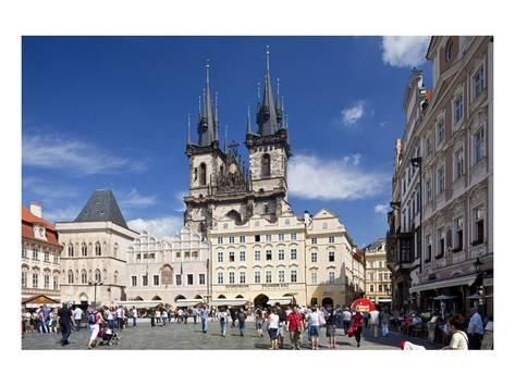 Church of Our Lady Before Tyn on Old Town Square in Prague, Central Bohemia, Czech Republic Kunstdruk