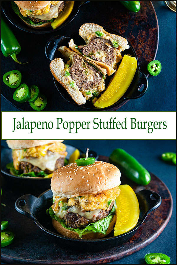 Jalapeno Popper Stuffed Burgers #stuffedburgerrecipes