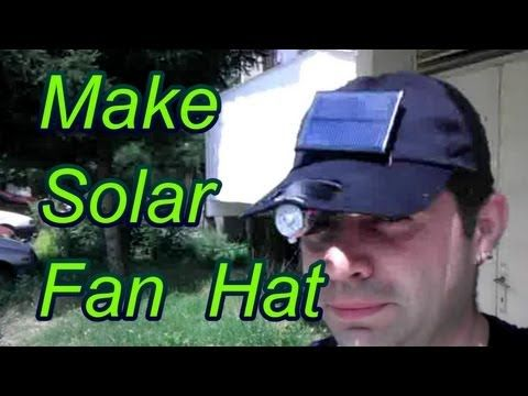 How To Make A Solar Powered Fan Hat Solar Fan Solar Powered Fan Solar