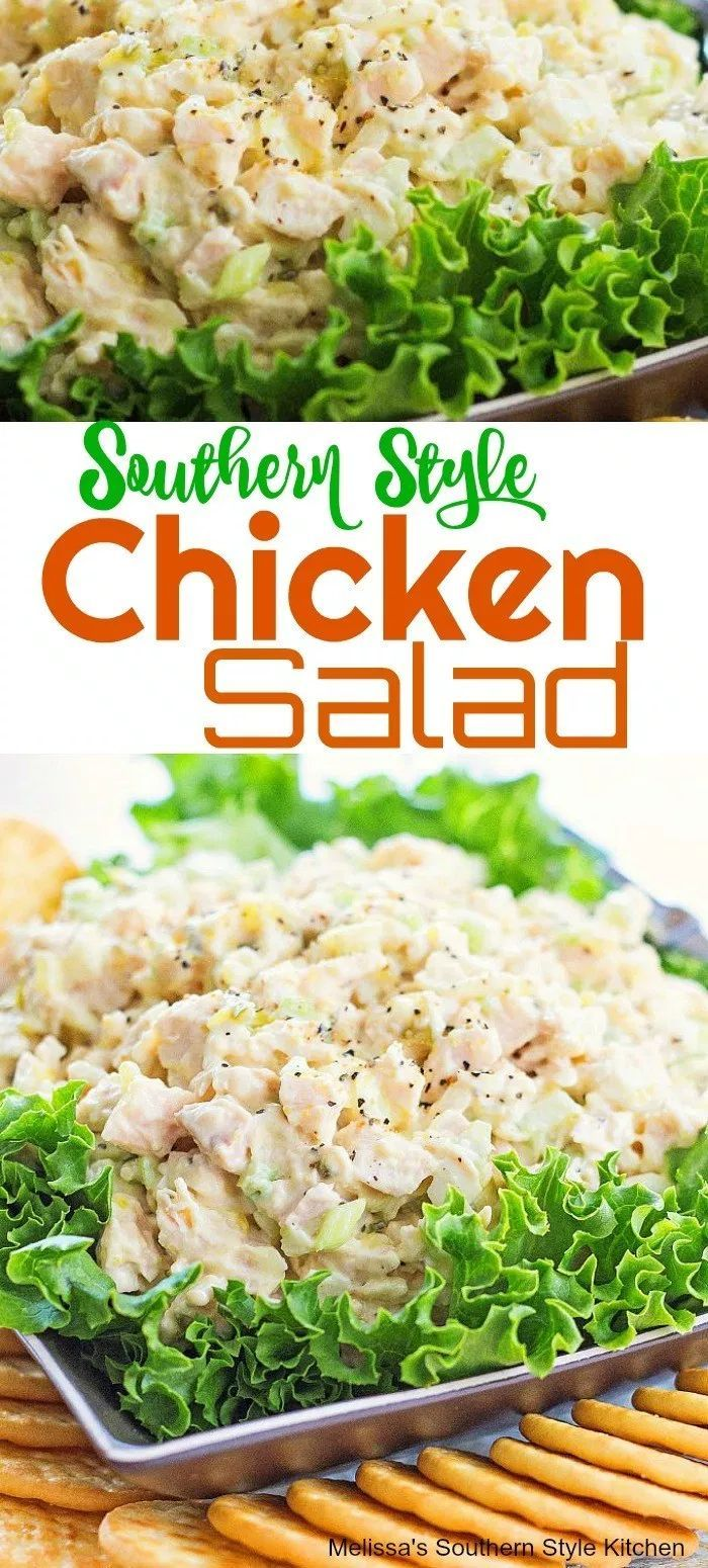 Southern Style Kitchen Salad #chicken #chickenrecipes #chickensalad #salads #southernfood #southernstyle #recipes #appetizers #easy #holidays #mothersday #easter #lunch #dinner #easymeals #bestrecipes #food #melissassouthernstylekitchen #summersouthernfood