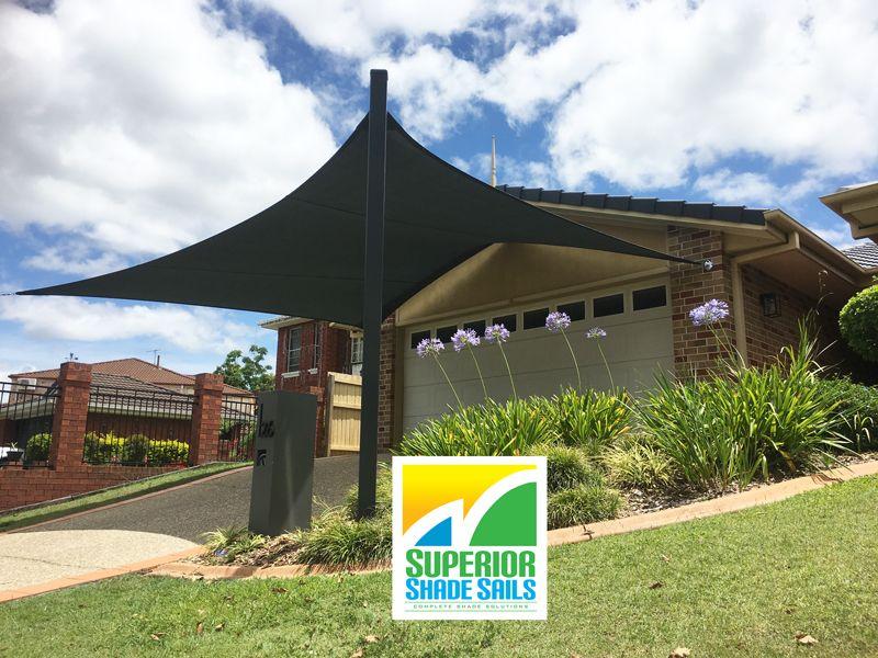 5 Point Driveway Shade Sail Installed At Mackenzie Brisbane By