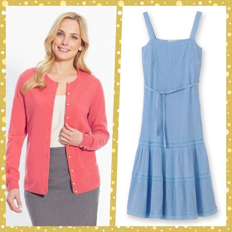3d83b4e6ad5 NEW Outfit - Dress (Blue) and Cardigan (Orange) UK 22 EU 50
