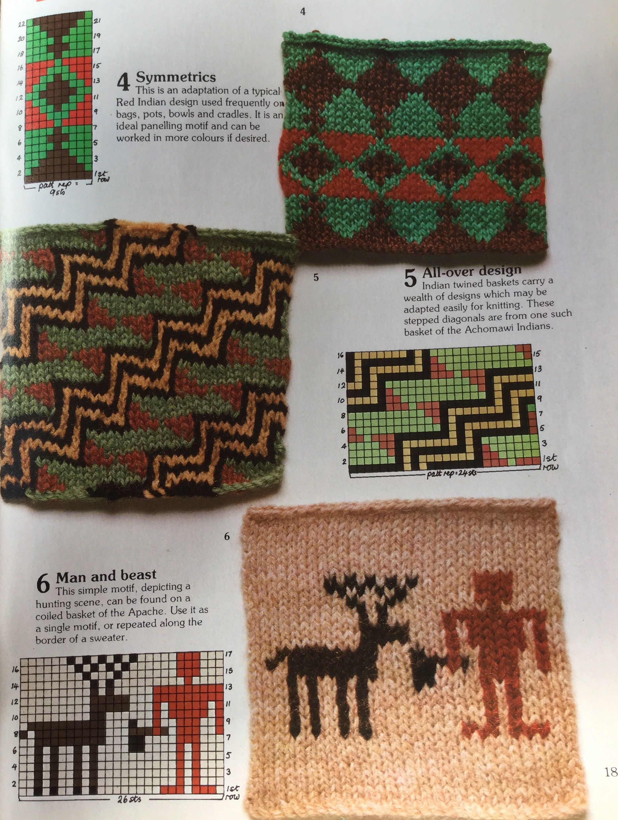 Native American Motifs Knitting Stitch Library Busy Needles Part