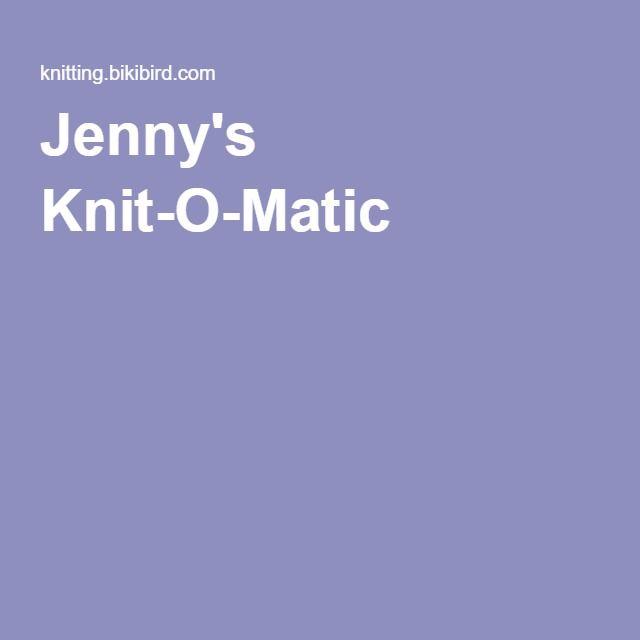 Jenny's Knit-O-Matic - links to pattern generators, knitting machine manuals, etc.