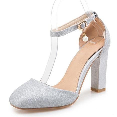 0e714660f327 Pearl Charm Glitter Bridal Shoes