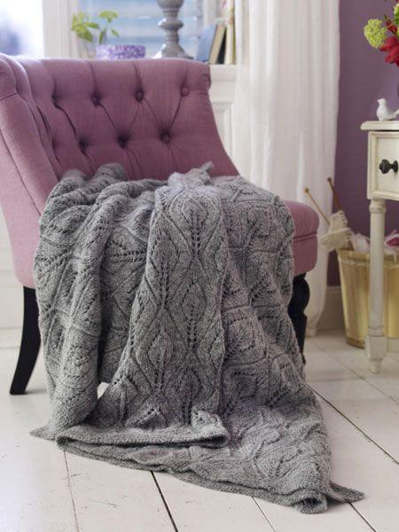 Für kalte Tage: Decke stricken und gestalten | Stricken | Pinterest ...