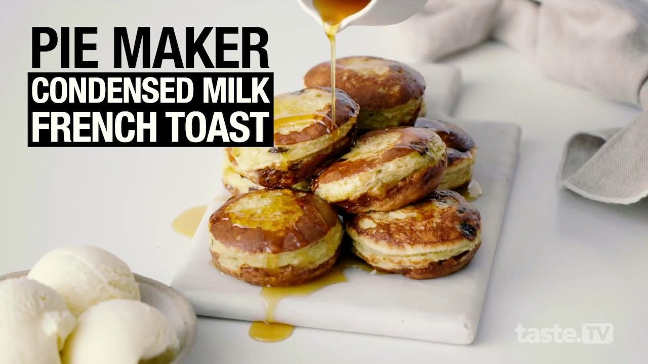 We Make Condensed Milk French Toast In A Pie Maker Taste Com Au Youtube In 2020 Pies Maker Mini Pie Recipes French Toast
