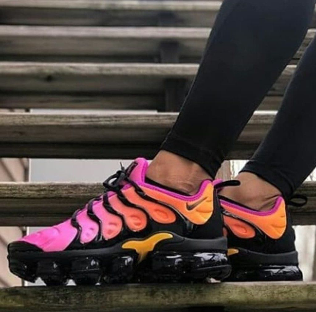 pink and orange vapormax plus