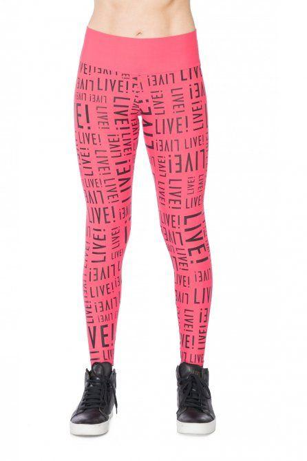 a4e3847d2 Calça Legging Color Live! Pink | calças legging | Moda praia, Calça ...