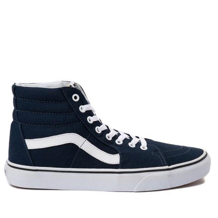 Vans Sk8 Hi Skate Shoe dark blue in