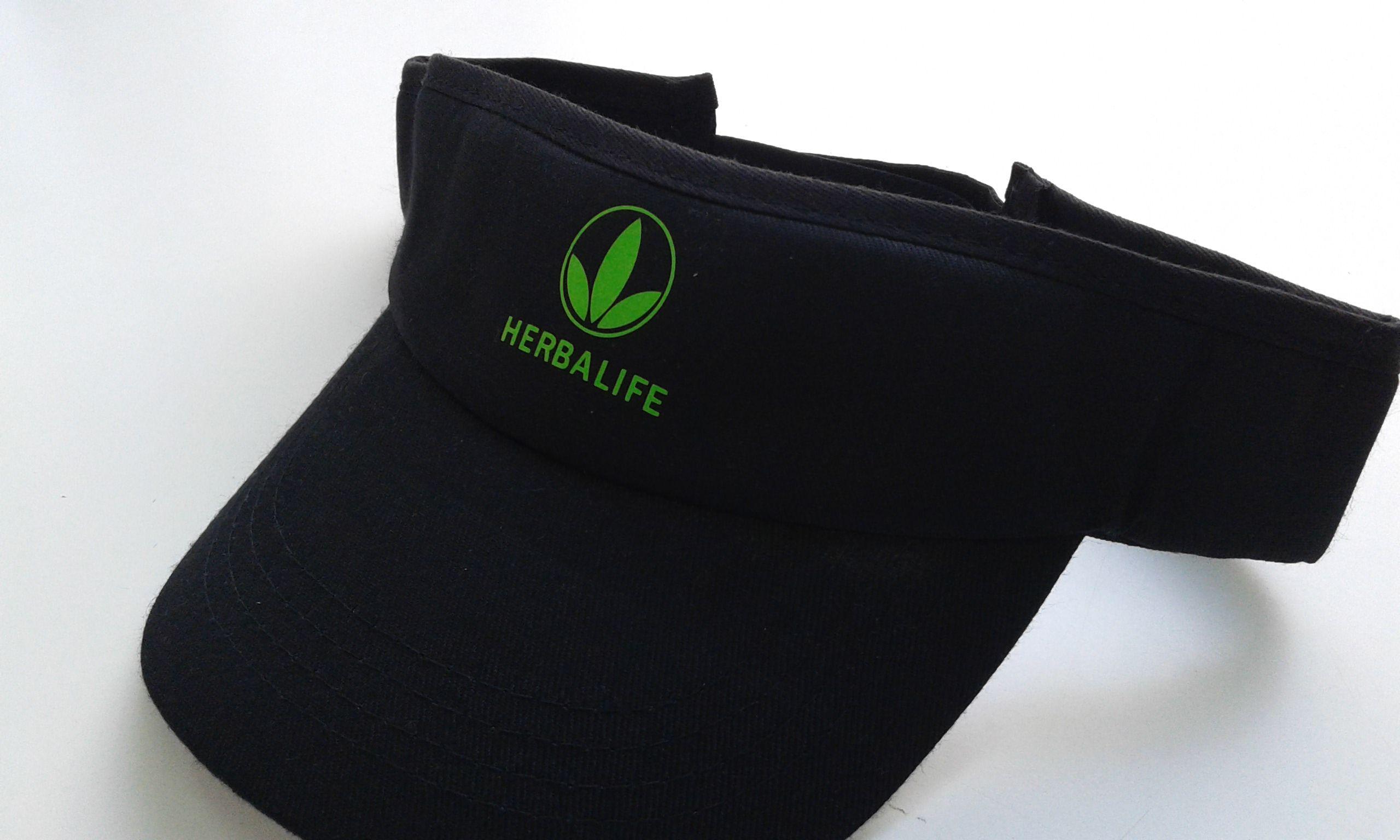 Viseras y gorras personalizadas para eventos deportivos. Visera Herbalife  personalizada con vinilo textil. 0e801409fca