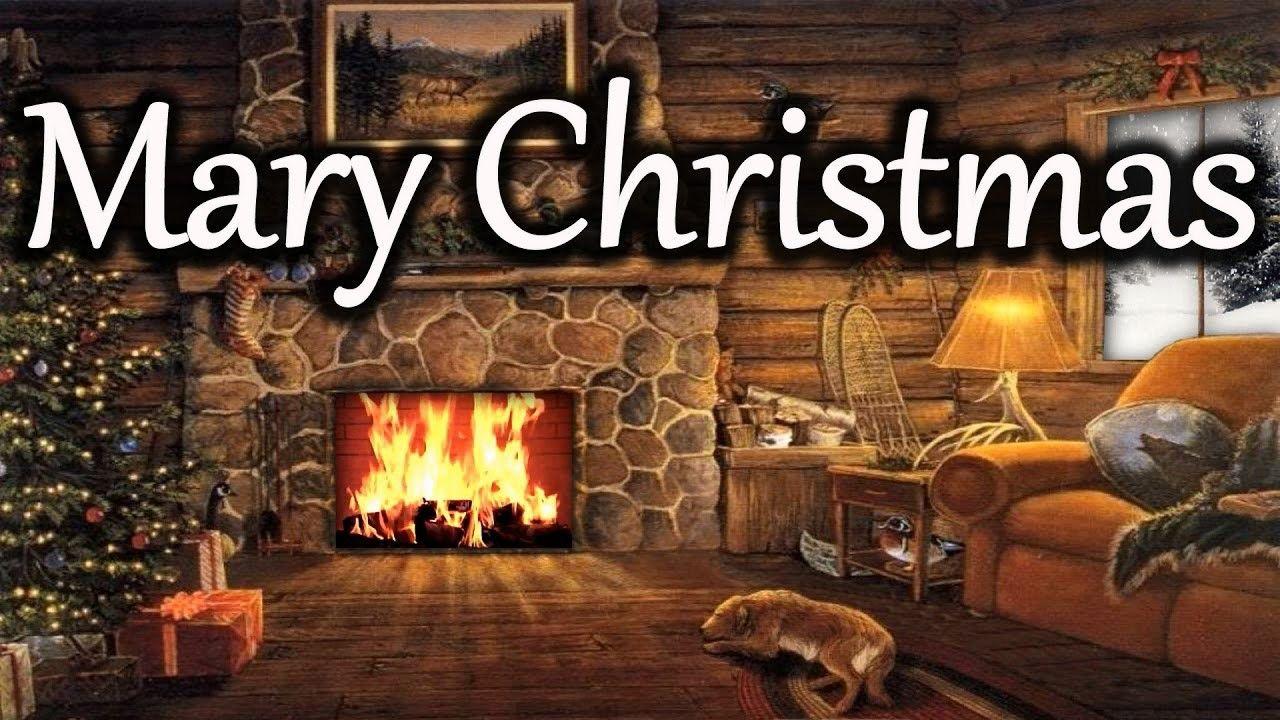 2 HOURS Christmas Scene - Christma Fireplace & Snowfall ...