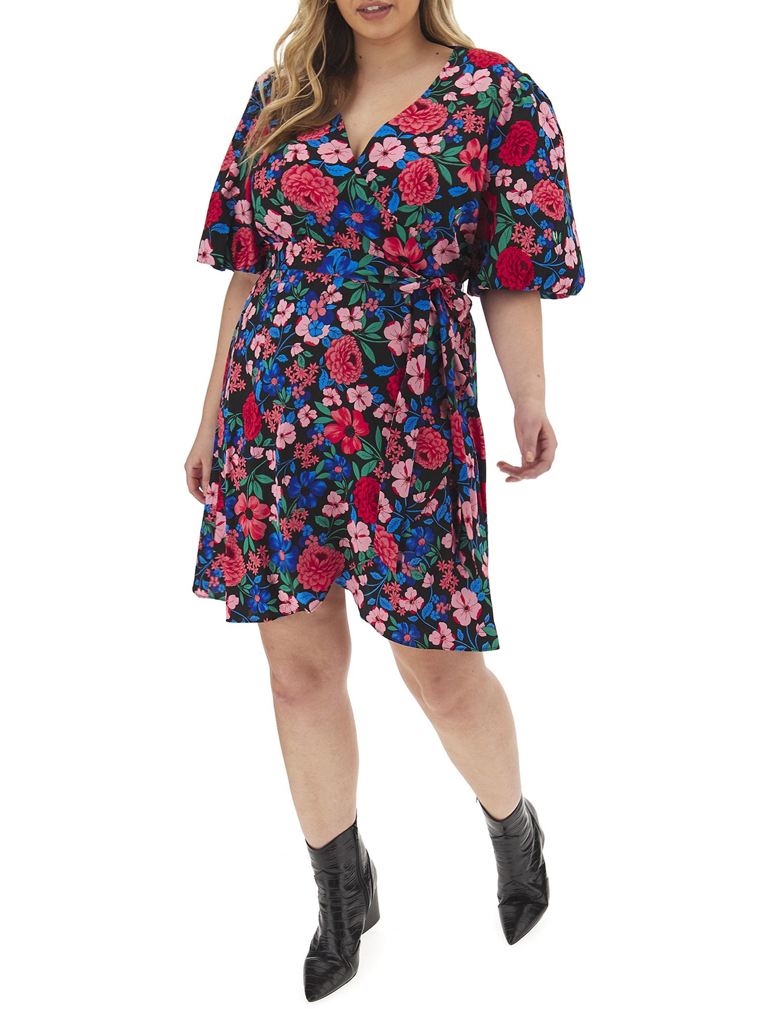 Free 2 Day Shipping On Qualified Orders Over 35 Buy Simply Be Women S Plus Size Puff Sleeve Wrap Skater Dress At Walmar Skater Dress Wrap Dress Short Dresses [ 2000 x 1500 Pixel ]
