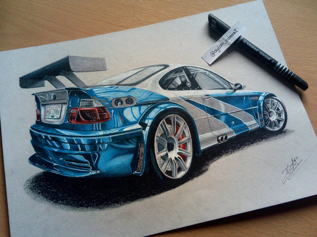 Nfsmw Bmw M3 Gtr Dylan Mendes Desenhos De Carros Projetos De