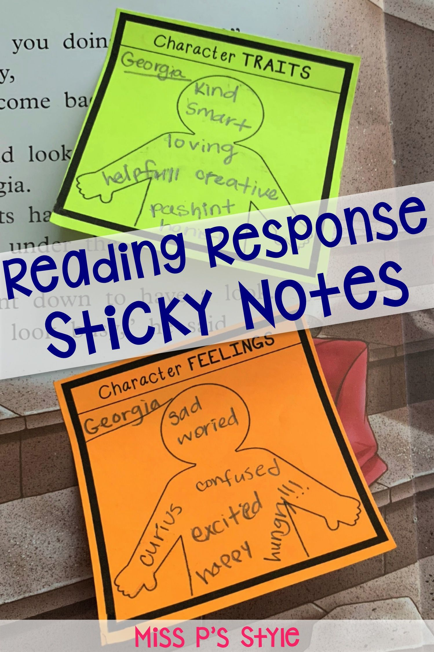 Sticky Note Reading Response Templates Reading Response Reading Response Graphic Organizers Reading Comprehension Strategies