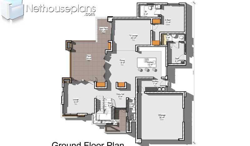 Modern 4 Bedroom House Designs Plans Home Designs Nethouseplansnethouseplans Single Storey House Plans 4 Bedroom House Designs House Plan With Loft