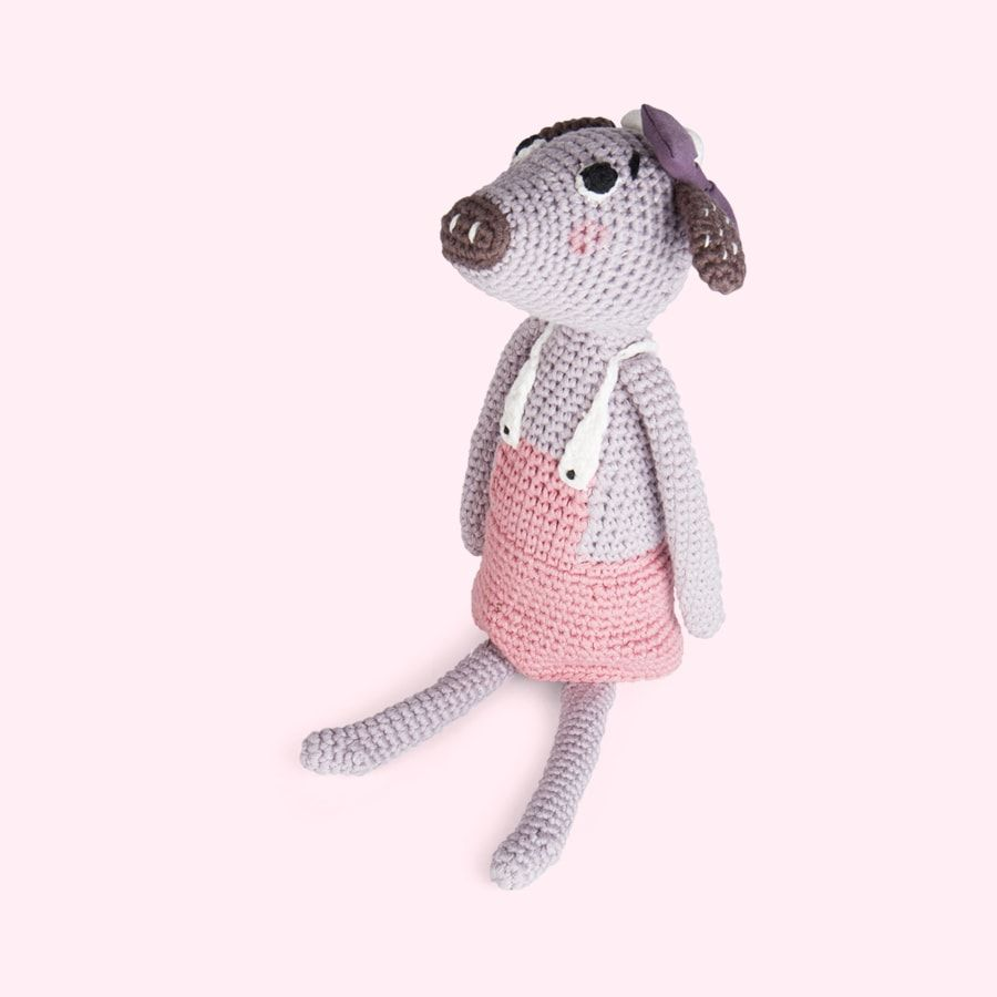Sebra Clara Crochet Cow Toy