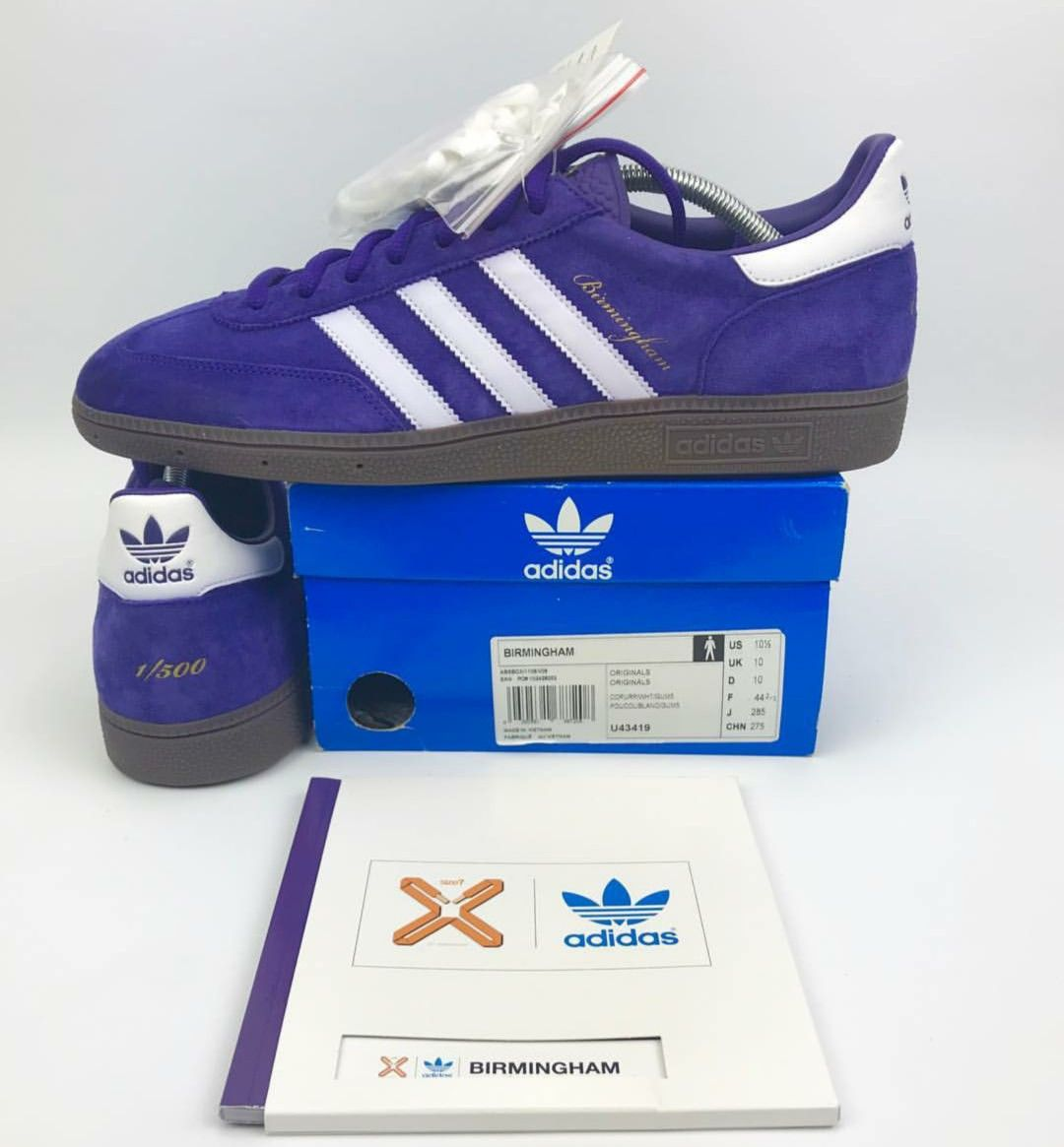 best loved c2d4b 12882 1500 Adidas Birmingham, Size 10th anniversary release plus 1250  Birmingham booklet.